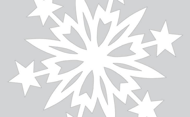 Paper Snowflake Pattern Christmas Stars Cut Out