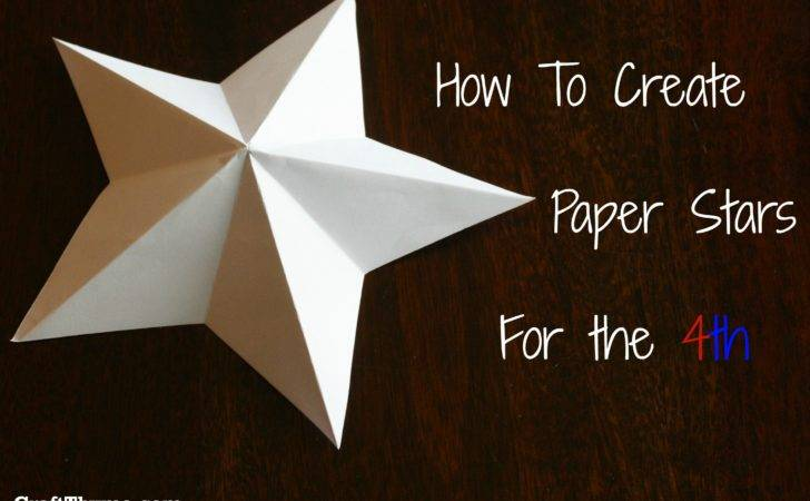 Paper Stars Make Pointed Craft Thyme