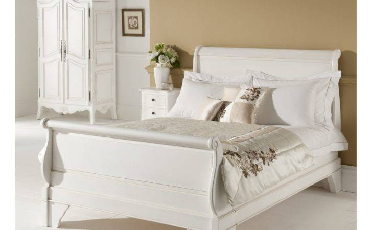 Paris Antique French Sleigh Bed Single