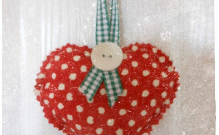 Parlour Made Fabric Heart Decorations