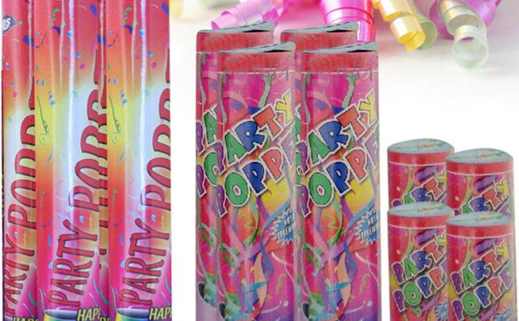 Party Poppers Confetti Cannon Shooter Birthday Christmas