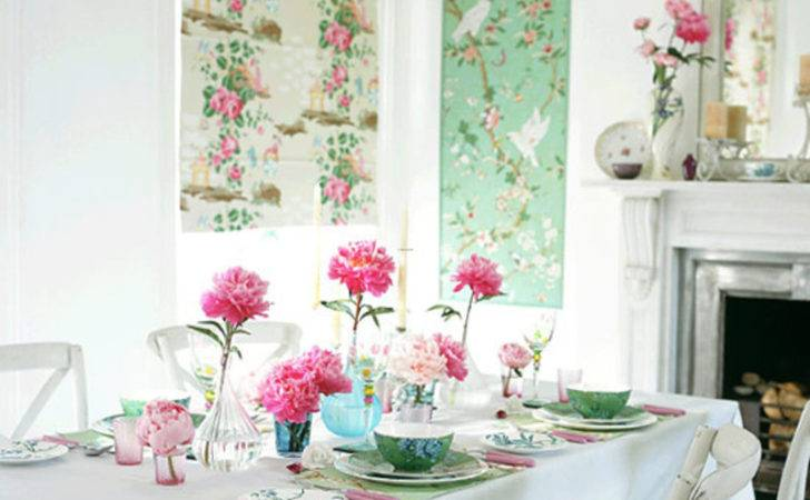 Pastel Dining Room Floral Trends Design Bookmark
