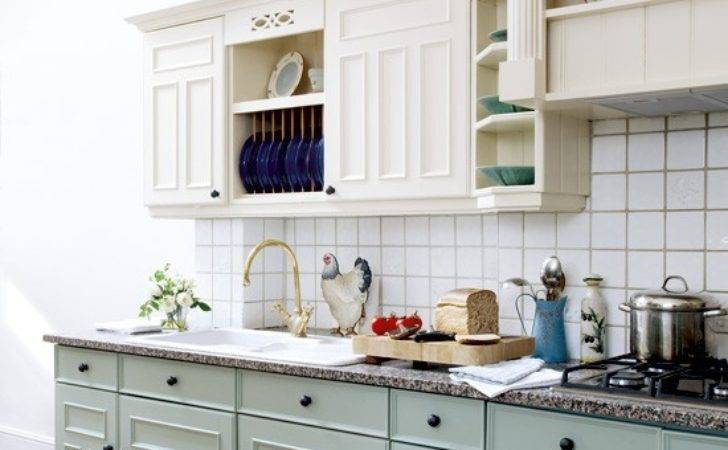 Pastel Painted Country Kitchen Designs