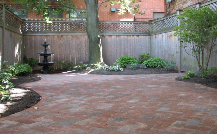 Patio Made Pavers Small Courtyard Design