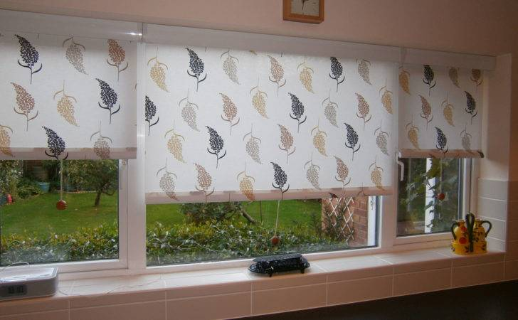 Patterned Roller Blinds Kitchen Cassette Surrey
