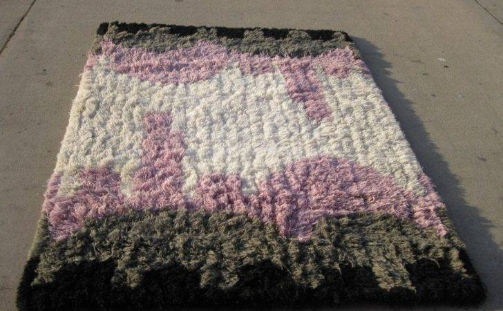 Patterned Shag Area Rug Wool Stdibs