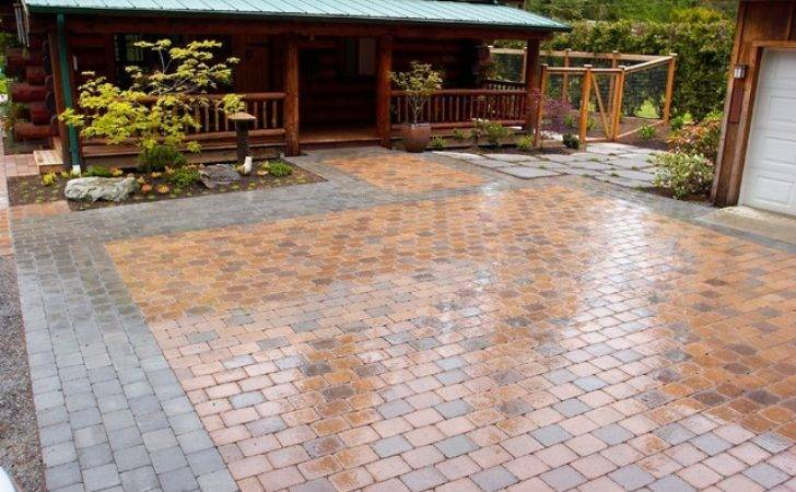Paved Parking Courtyard Rustic Landscape Other Metro