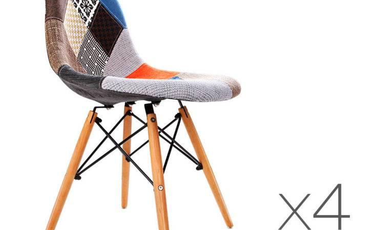 Pcs Retro Replica Eames Eiffel Dsw Dining Chairs Office
