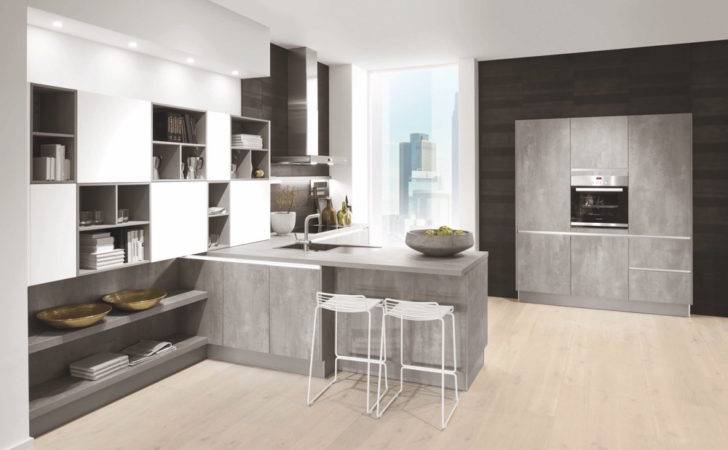 Pearl Grey Stone Effect Kitchens