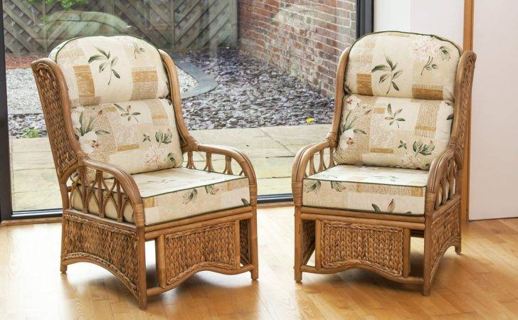 Penang Cane Woven Sea Grass Conservatory Armchairs