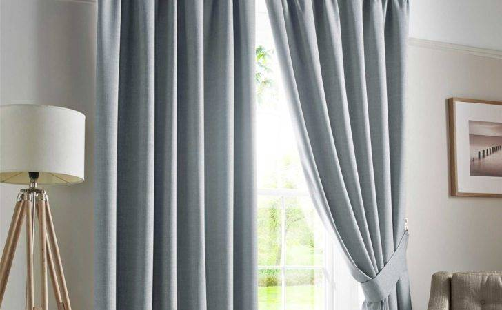 Pencil Pleat Blackout Ready Made Curtains Pair Fully Lined