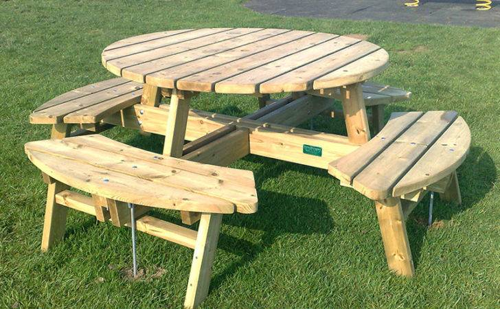Pentire Seater Round Picnic Table Outdoor Furniture