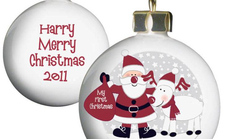 Personalised Christmas Bauble Baby First