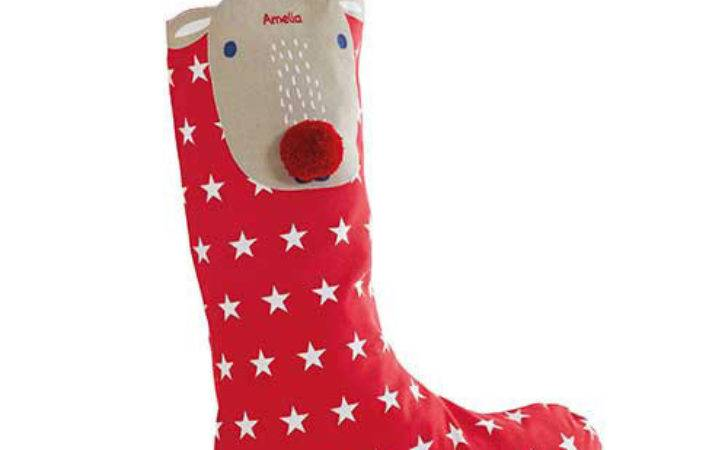 Personalised Christmas Stocking Jolly Reindeer Gltc