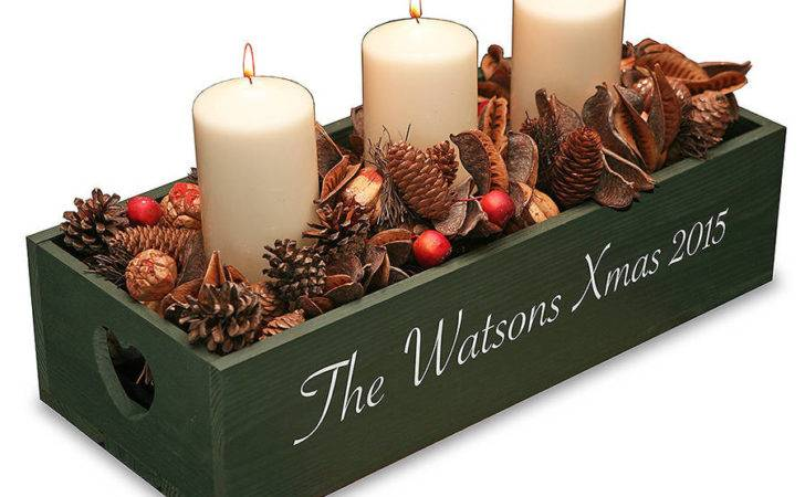 Personalised Christmas Table Centre Plantabox