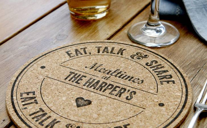 Personalised Cork Placemats Set Delightful