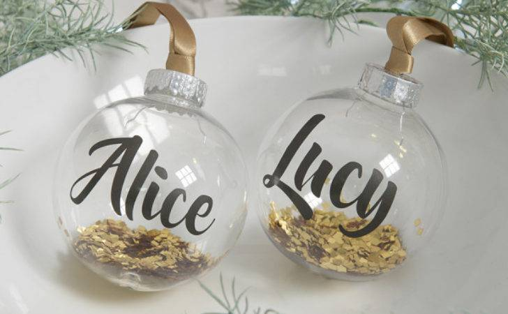 Personalised Gold Glitter Christmas Bauble