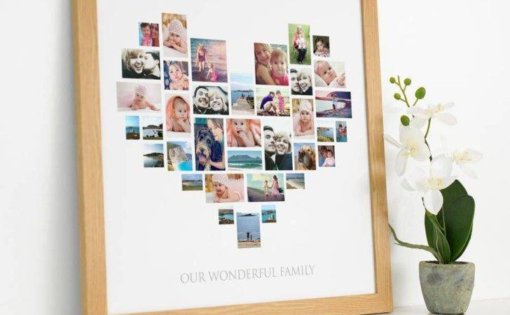 Personalised Heart Collage
