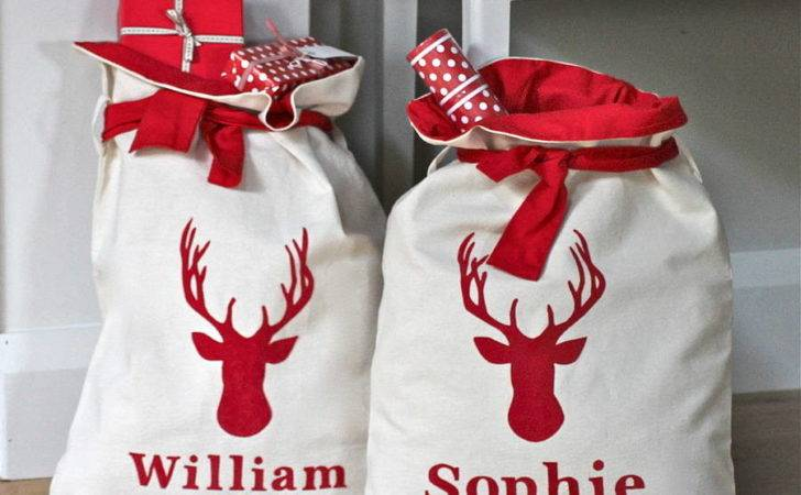 Personalised Lined Christmas Sacks Chapel Cards