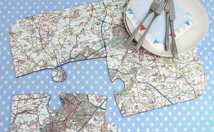 Personalised Map Jigsaw Placemats Just Love