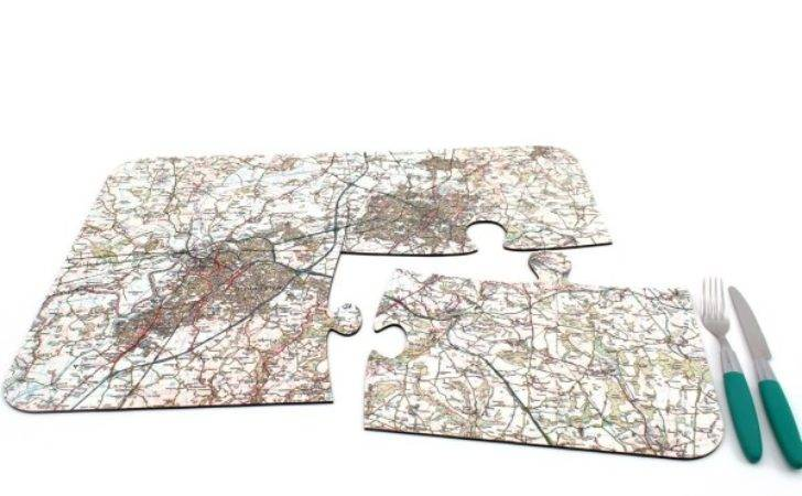 Personalised Map Jigsaw Placemats