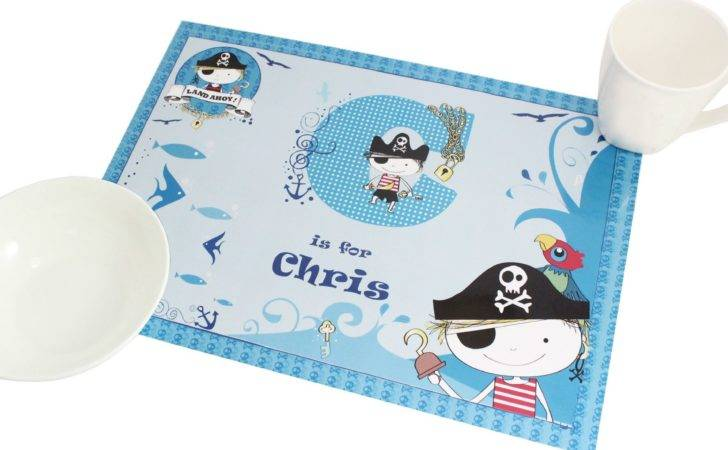 Personalised Pirate Placemat
