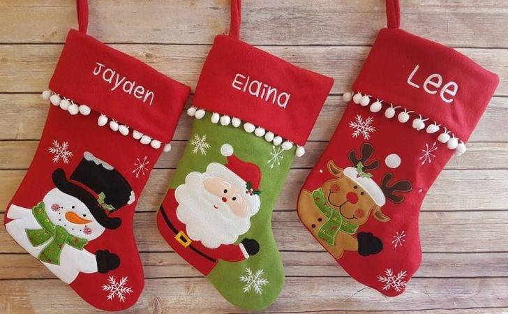Personalised Santa Reindeer Snowman Stockings