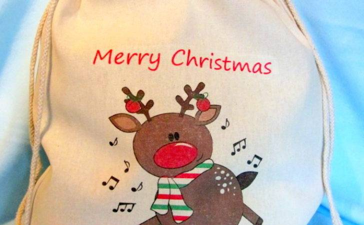 Personalised Santa Sack Rocking Reindeer