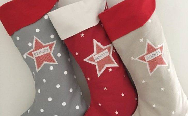 Personalised Star Christmas Stocking