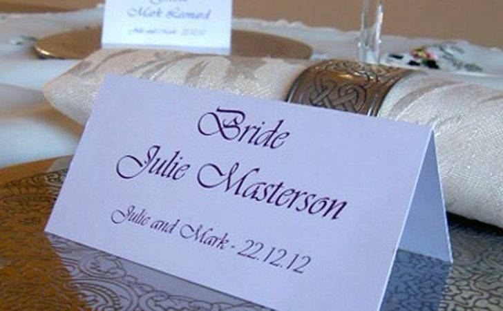 Personalised Table Name Place Cards Wedding Birthday