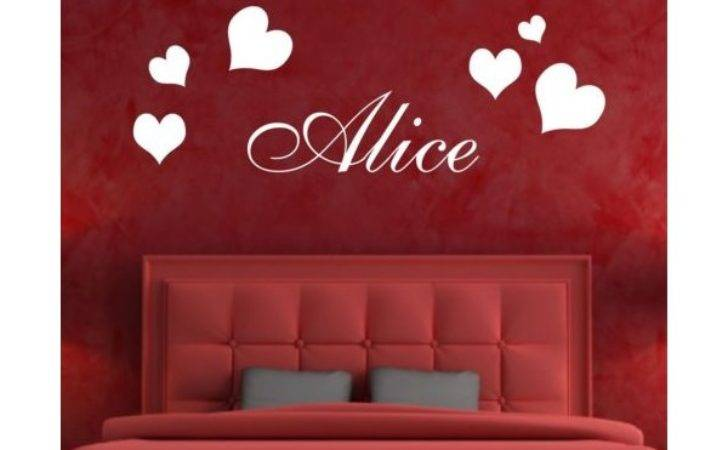 Personalised Wall Art Stickers Kids Hearts