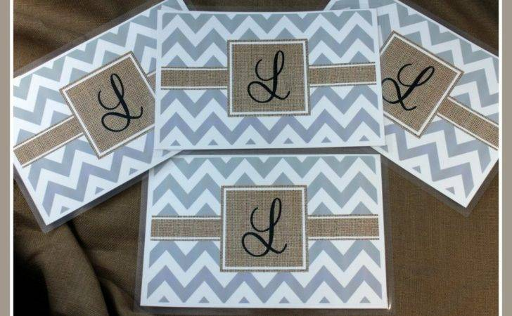 Personalized Burlap Look Placemats Custom Place Mats