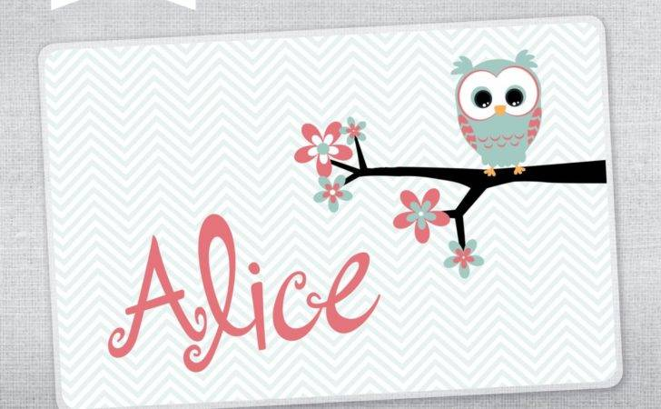 Personalized Placemat Kids Owl
