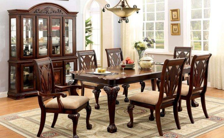 Petersburg Traditional Style Cherry Finish Formal Dining