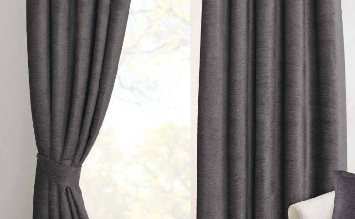 Pewter Grey Chenille Pencil Pleat Lined Thermal Ready Made