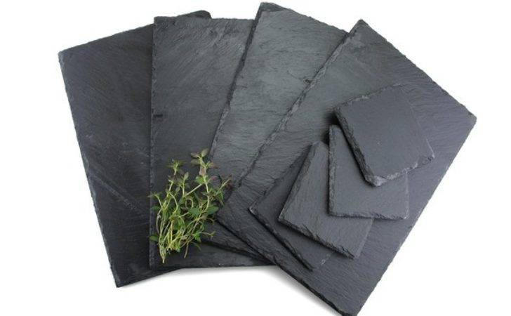 Piece Natural Slate Coasters Placemats Sets Tablemat