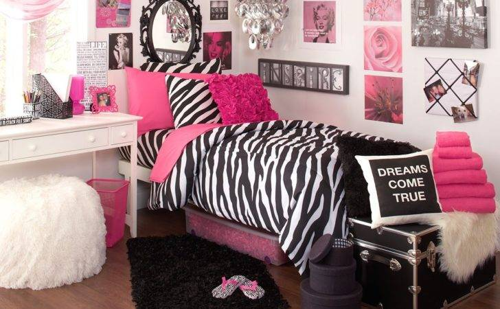 Pink Black White Bedroom Ideas