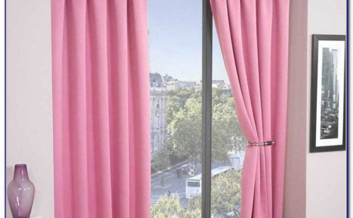 Pink Blackout Curtains Eyelet Curtain Home Decorating