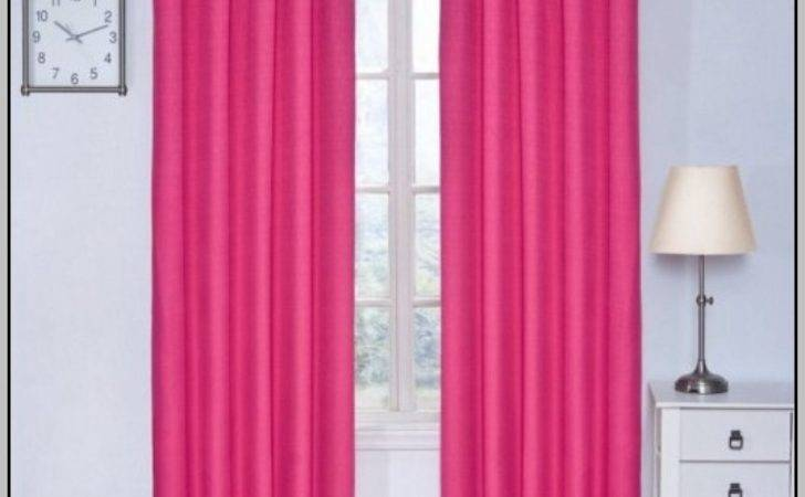 Pink Blackout Tab Top Curtains Home Design