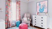 Pink Blue Girls Nursery Design Ideas