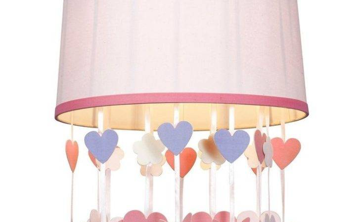 Pink Butterfly Light Shade Childrens Bedroom Home