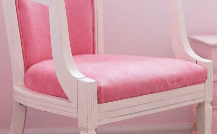 Pink Chair Redo Homemade Roost