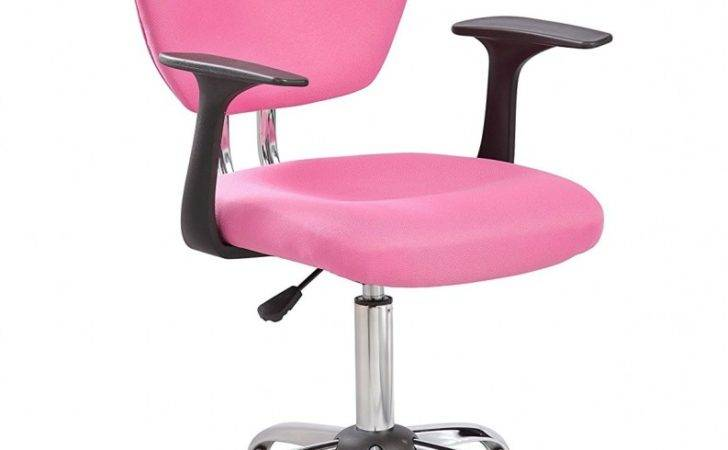 Pink Desk Chair Arms Modern Chairs Design Pertaining