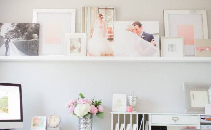 Pink Gray Home Office Style Pretty Living