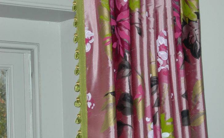 Pink Green Curtains Home Design Ideas
