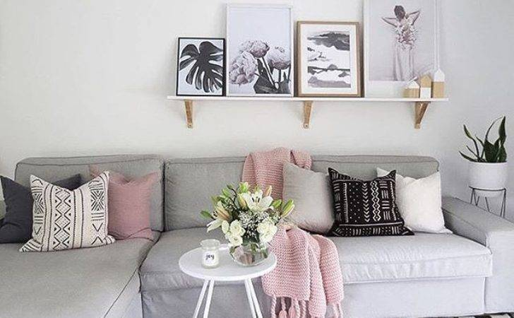 Pink Grey Living Room Accessories Theparty