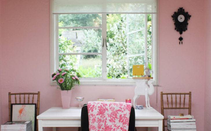 Pink Home Office Study Apartment Therapy Hooked Houses