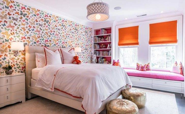 Pink Orange Girl Bedroom Lulu Butterfly Multi