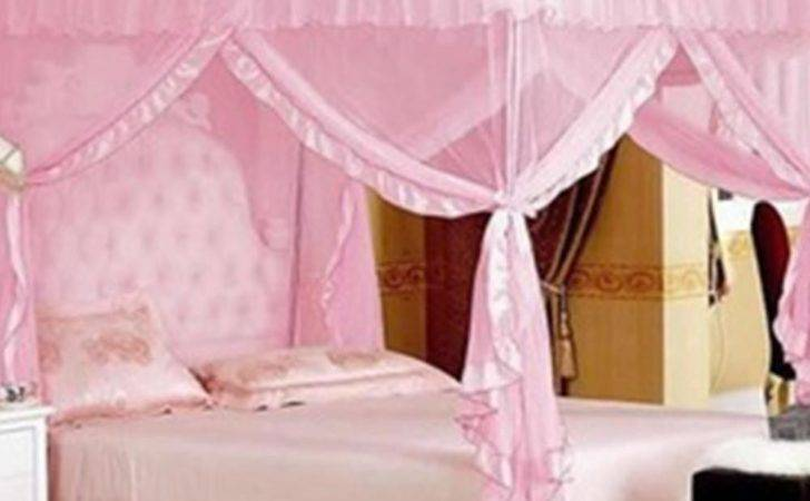 Pink Retro Fairy Princess Queen Mosquito Poster Bed