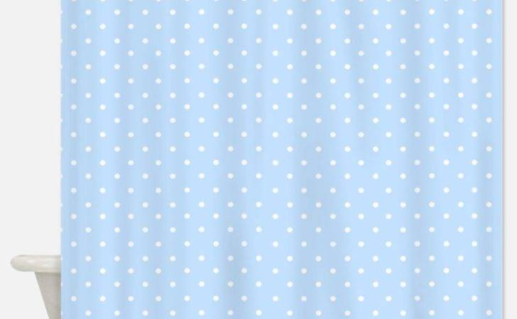 Pink White Polka Dots Shower Curtains